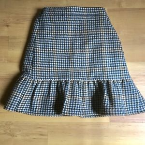 JCrew Wool Ruffled Pencil Skirt Size 2T